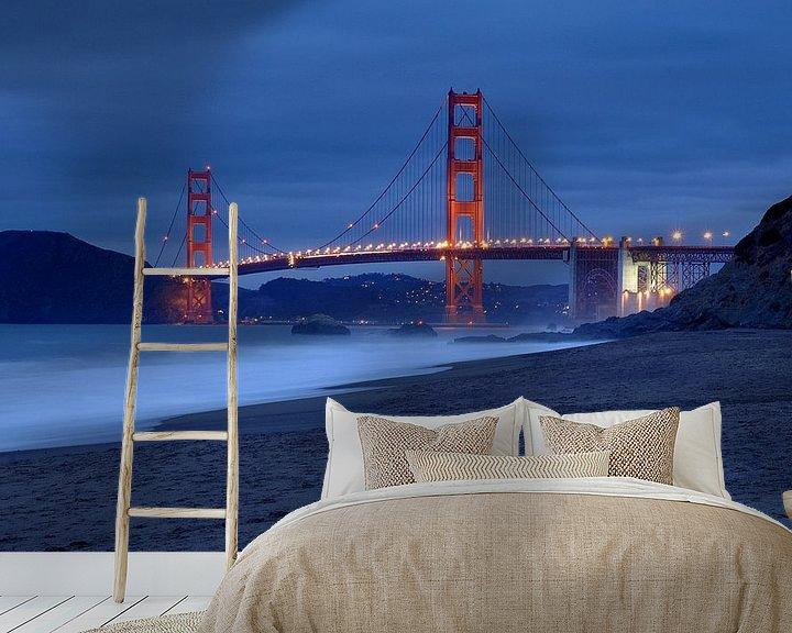 Sfeerimpressie behang: San Francisco van Marianne Bal