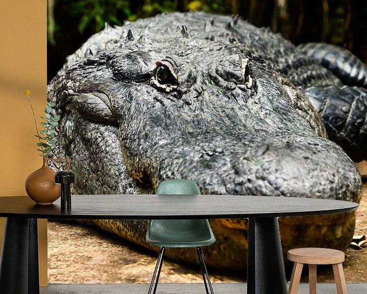 Beispiel fototapete: Alligator oder Krokodil von Atelier Liesjes