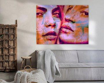 Cara Delevingne vs Kate Moss Splash Pop Art PUR van Felix von Altersheim