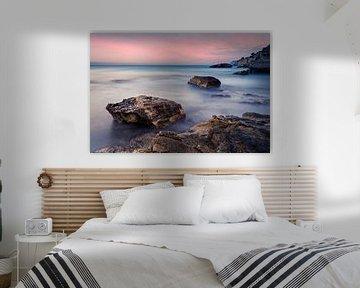 Zeelandschap kust Costa Blanca Spanje van Peter Bolman