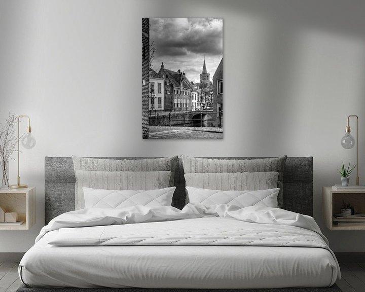 Sfeerimpressie: Historisch Amersfoort in zwartwit van Watze D. de Haan