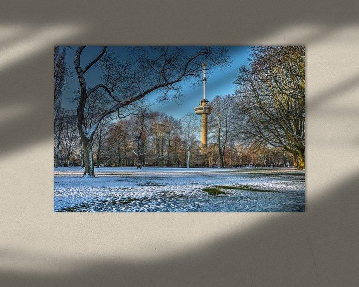 Sfeerimpressie: Winter in het Park bij de Euromast van Frans Blok