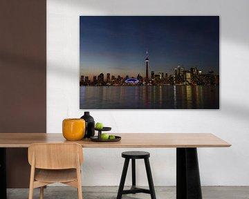 Toronto in de avond van Francesco Faes