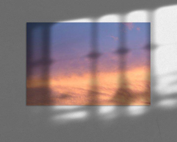 Sfeerimpressie: Zonsondergang, wolkenlucht van Ronald Smits