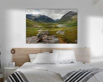 Weg 63 bij Trollstigen Noorwegen van Margreet Frowijn