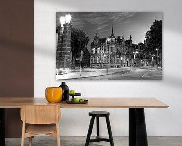 Stationsweg 's-Hertogenbosch op een zomeravond