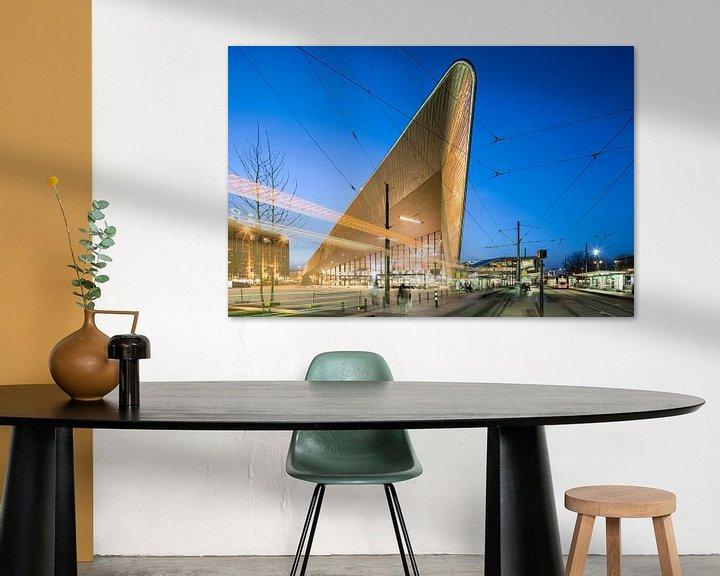 Sfeerimpressie: Centraal Station Rotterdam van Raoul Suermondt
