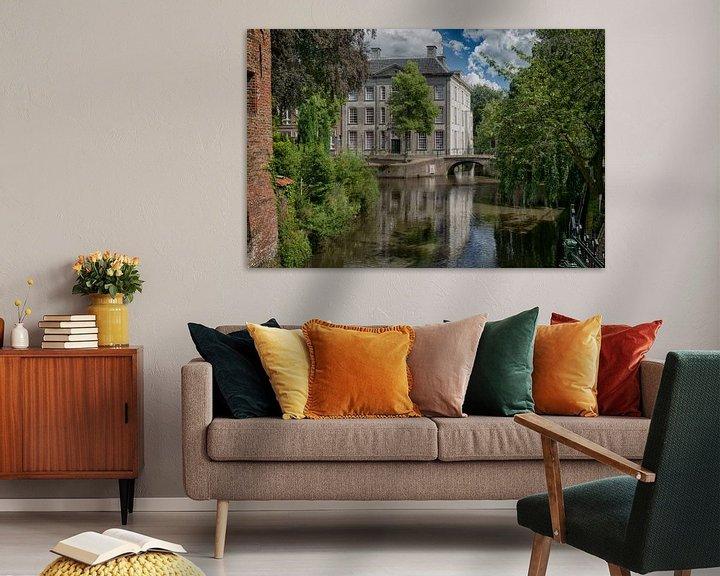 Sfeerimpressie: Huis Cohen Amersfoort (huis met de paarse ramen) van Manuel Speksnijder