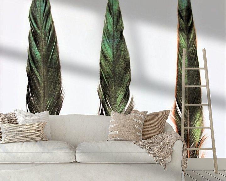 Sfeerimpressie behang: Verentrio kleur van Michelle Raven