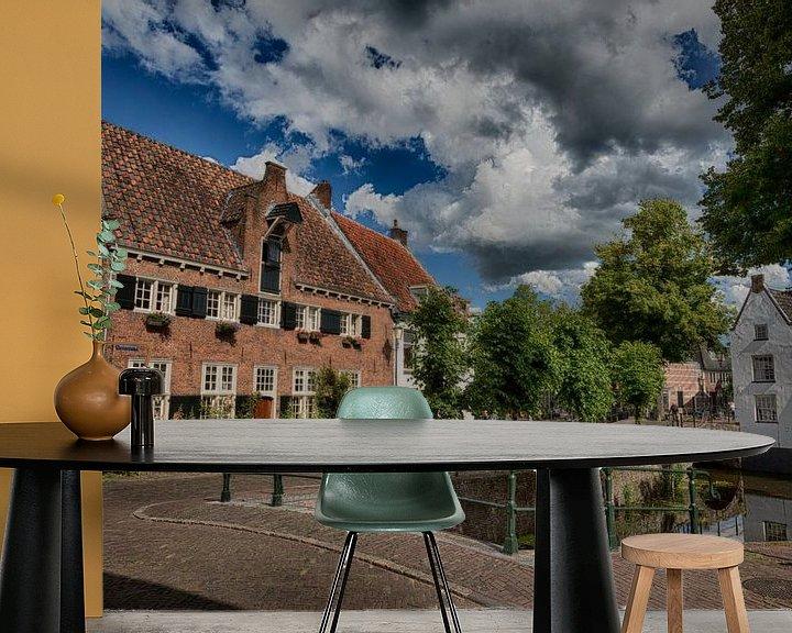 Sfeerimpressie behang: Nieuweweg Amersfoort van Manuel Speksnijder