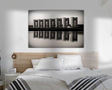 Houtribsluizen in zwart-wit von Ronald de Vries