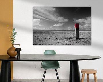 Strandpaal op Terschelling von Foto van Anno