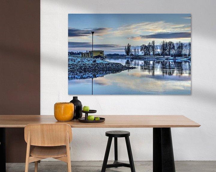 Sfeerimpressie: De IJssel in de winter van Frans Blok