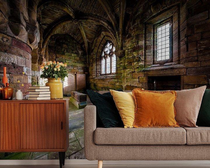 Sfeerimpressie behang: Jedburgh Abbey in Schotland van Steven Dijkshoorn