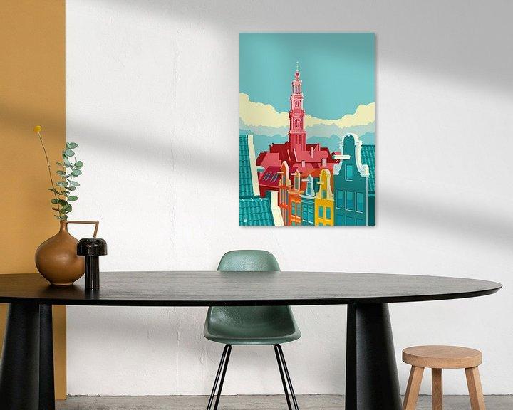Beispiel: Amsterdam Westerkerk von Remko Heemskerk