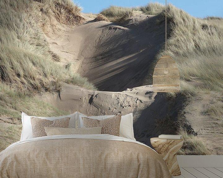 Sfeerimpressie behang: Duinenpan Bergen aan Zee van Ronald Smits