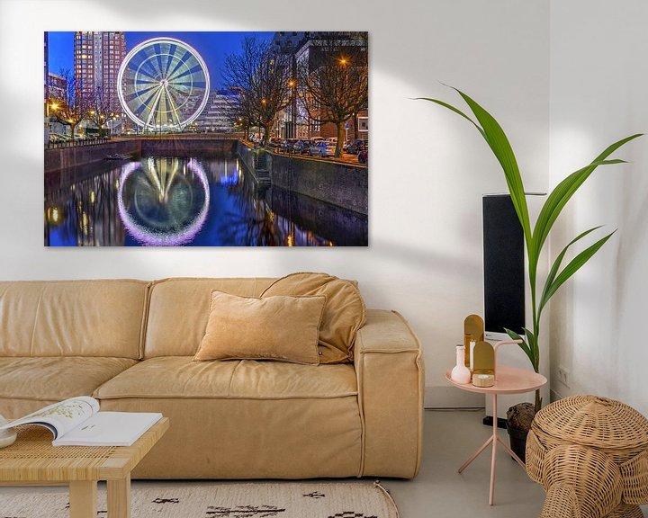 Sfeerimpressie: Reuzenrad The View Rotterdam van Frans Blok