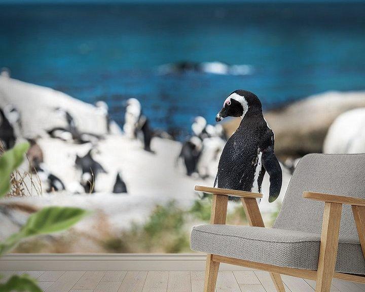 Sfeerimpressie behang: Pinguin van Trudy van der Werf