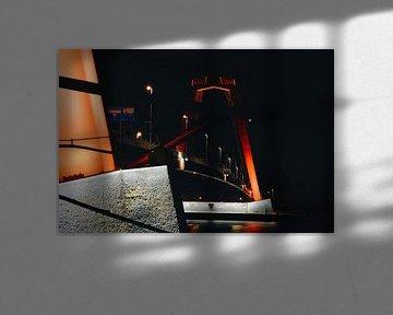Willemsbrug at night 2. van Bart Mulder