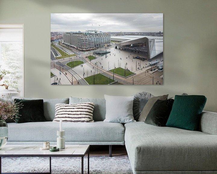 Sfeerimpressie: Het uitzicht op het Centraal Station in Rotterdam van MS Fotografie | Marc van der Stelt