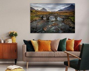 Sligachan Brückeninsel oder Skye in Schottland von Steven Dijkshoorn