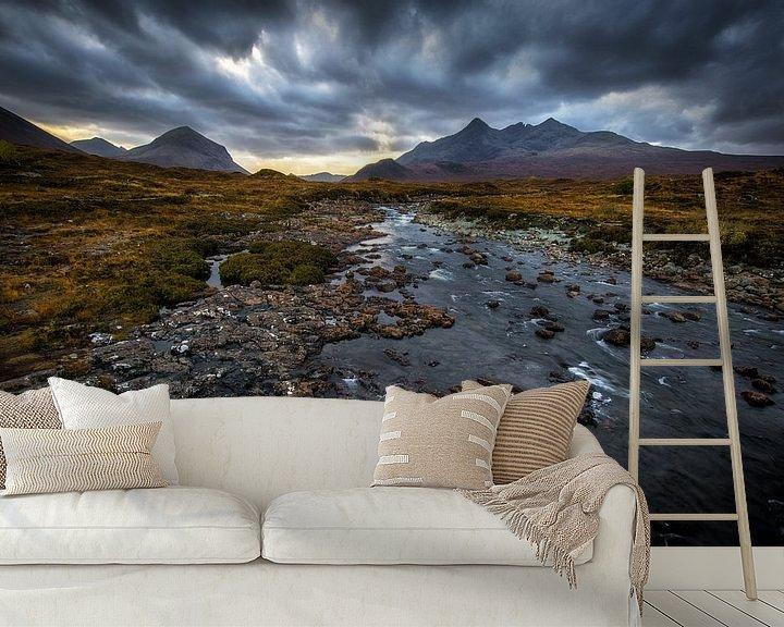 Sfeerimpressie behang: Het Schotse landschap van Steven Dijkshoorn