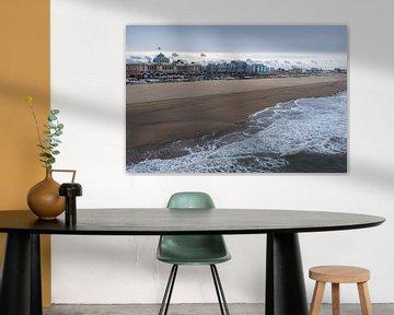 De kustlijn van Scheveningen von Cilia Brandts