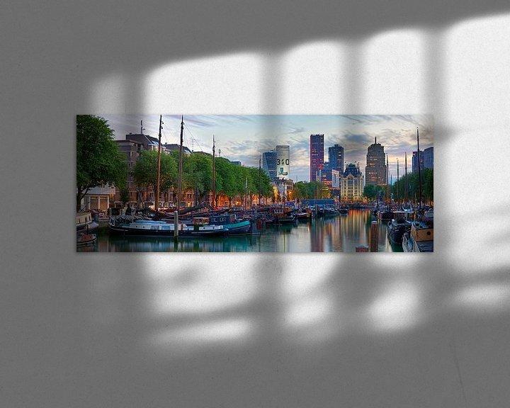 Sfeerimpressie: Panorama historische schepen Rotterdam van Anton de Zeeuw