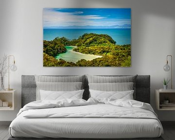 Lagune Abel Tasman NP, Nieuw Zeeland van Rietje Bulthuis