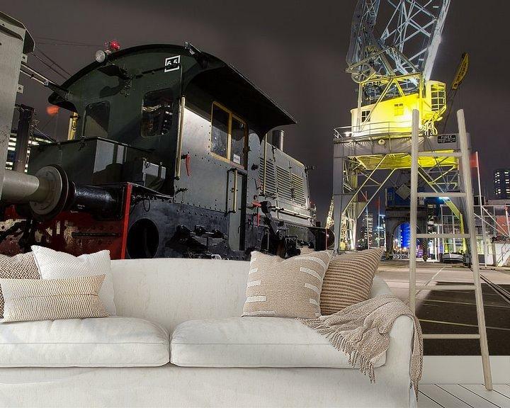 Sfeerimpressie behang: Leuvehaven Rotterdam van Jaco Verheul