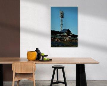 Stadion lampen van het Sz?nyi úti stadion Boedapest van Jordi Woerts