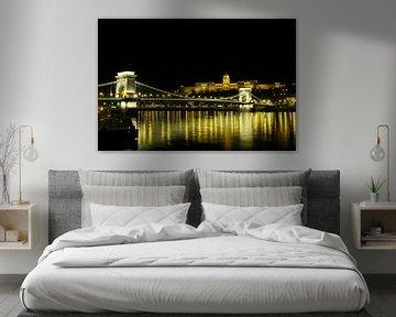 De Kettigbrug en het kasteel in Boedapest  von Jordi Woerts