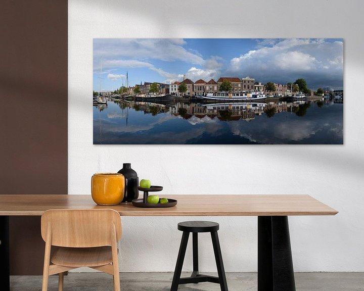 Impression: Panorama van het Binnen Spaarne in Haarlem, Noord Holland. sur Martin Stevens