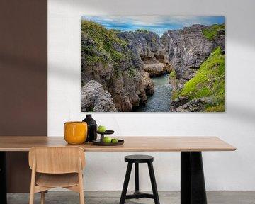 Pancake Rocks, Nouvelle-Zélande sur Rietje Bulthuis