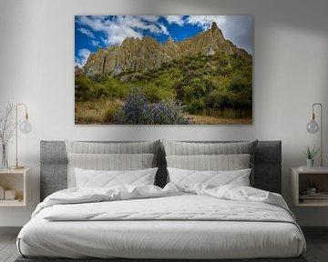 Imposante Ton Felsen, Neuseeland von Rietje Bulthuis