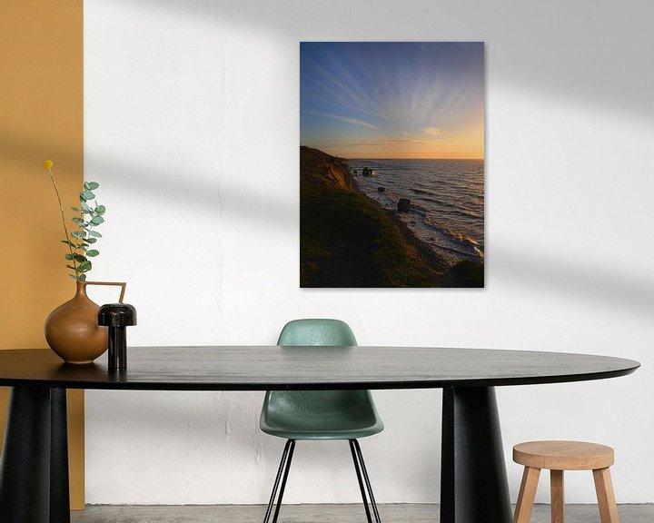 Beispiel: Sonnenuntergang Ahrenshoop Steilküste von Jörg Hausmann