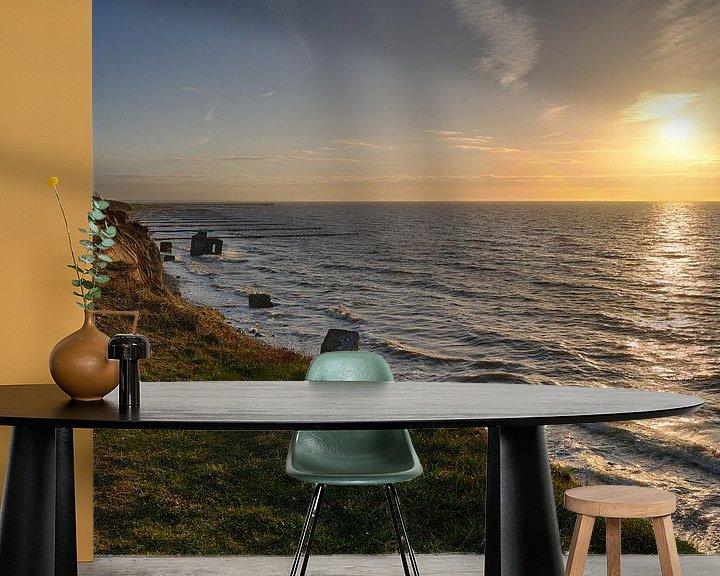 Beispiel fototapete: Sonnenuntergang Ahrenshoop Steilküste von Jörg Hausmann