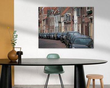 Straatbeeld Schoonhoven van Ronald Smits