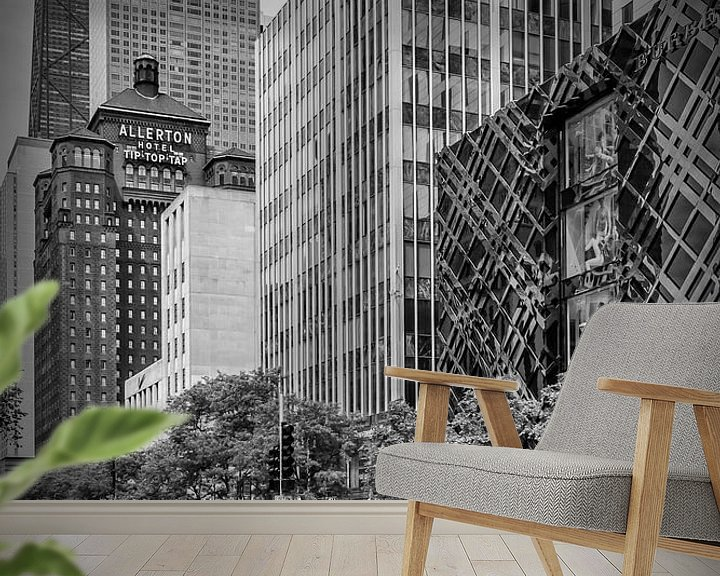 Sfeerimpressie behang: CHICAGO North Michigan Avenue van Melanie Viola