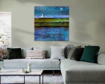 Abstrakte Holländische Landschaft von Ger Veuger