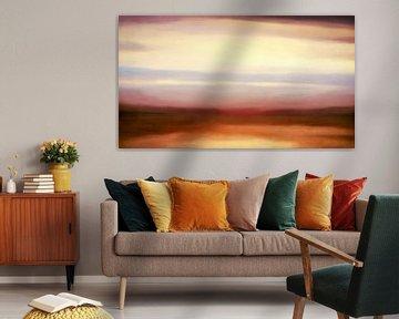 Sonnenuntergang am Meer van Heiko Westphalen