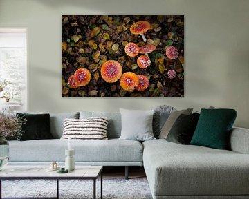 De kleurrijke paddenstoelen  sur AnyTiff (Tiffany Peters)