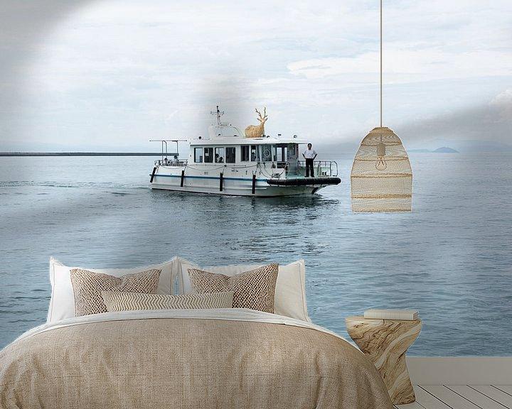 Sfeerimpressie behang: De Hertenboot van Marijn Kuijper