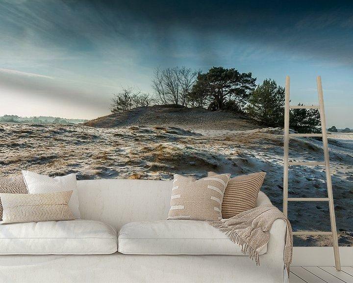 Sfeerimpressie behang: Omhoog bij kootwijkerzand van Mark Vredeveld