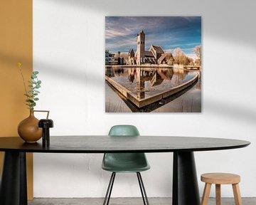 """De """"Johannes de Doperkerk"""" aan de Potmarge in Leeuwarden von Harrie Muis"""