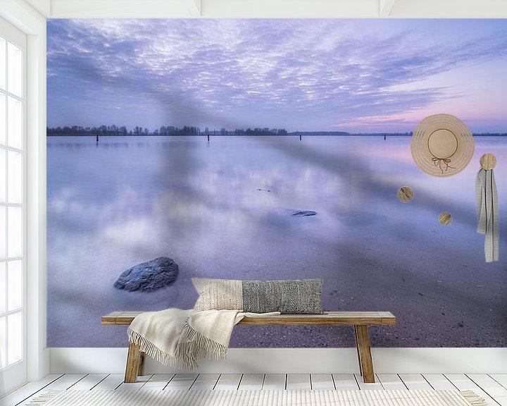 Sfeerimpressie behang: Een zwoele avond bij Het Valkenburgse Meertje van Martijn van der Nat