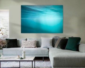 Lichtstralen door het water