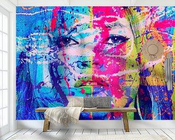 Kate Moss Splash Pop Art PUR van Felix von Altersheim