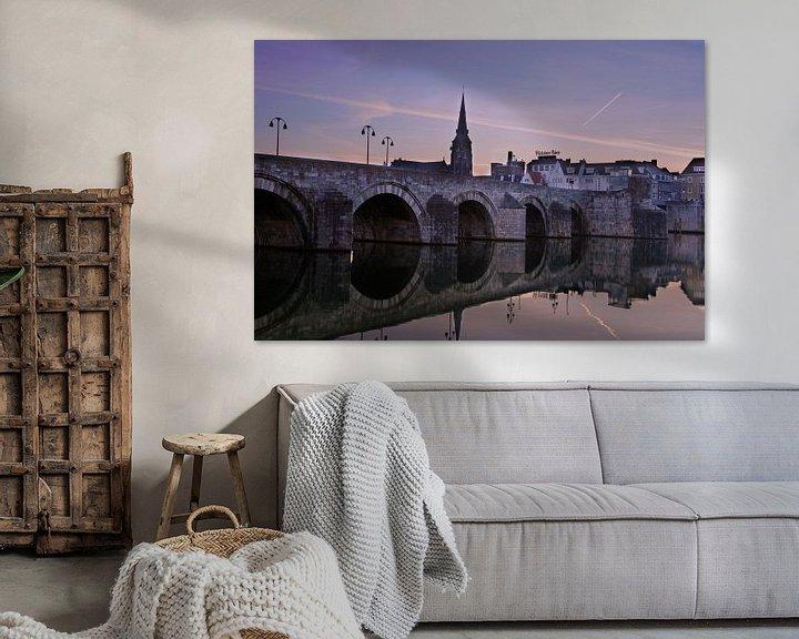 Beispiel: Sint-Servaasbrug in Maastricht tijdens zonsopkomst von Geert Bollen