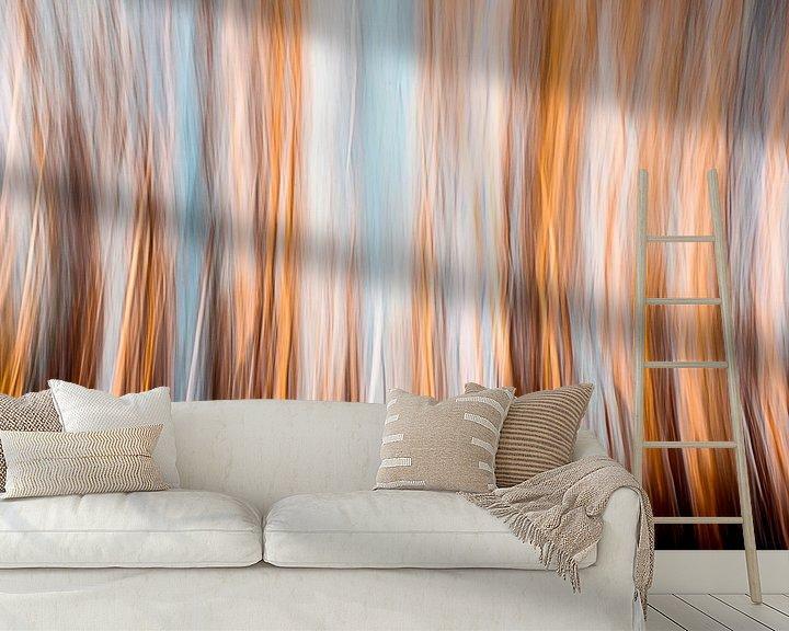 Sfeerimpressie behang: Boomtoppen van Jeroen Middelbeek